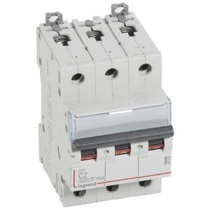 Disjoncteur DX³6000 - 3P - 2A - 400V~ - Courbe C - vis/vis LEGRAND