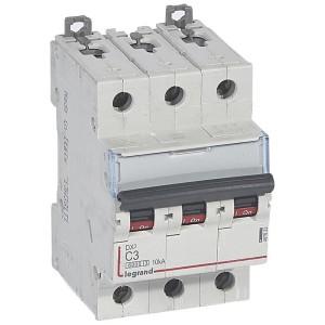 Disjoncteur DX³6000 - 3P - 3A - 400V~ - Courbe C - vis/vis LEGRAND