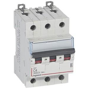 Disjoncteur DX³6000 - 3P - 4A - 400V~ - Courbe C - vis/vis LEGRAND