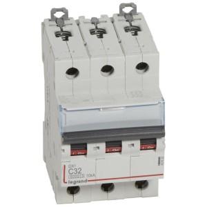 Disjoncteur DX³6000 - 3P - 32A - 400V~ - Courbe C - vis/vis LEGRAND