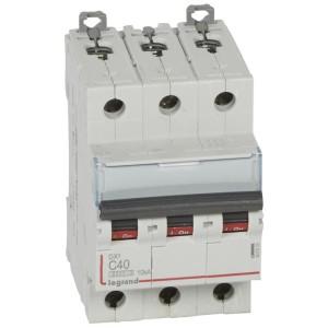 Disjoncteur DX³6000 - 3P - 40A - 400V~ - Courbe C - vis/vis LEGRAND