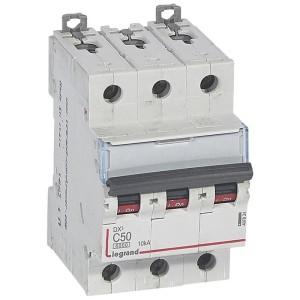 Disjoncteur DX³6000 - 3P - 50A - 400V~ - Courbe C - vis/vis LEGRAND
