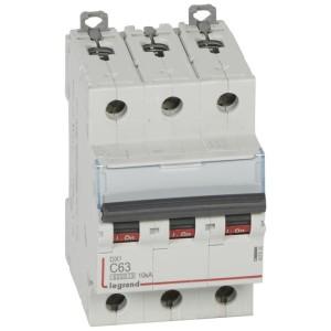 Disjoncteur DX³6000 - 3P - 63A - 400V~ - Courbe C - vis/vis LEGRAND