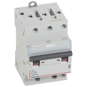 Disjoncteur DX³6000 - 3P - 16A - 400V~ - Courbe C - vis/vis LEGRAND