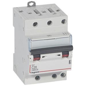 Disjoncteur DX³6000 - 3P - 20A - 400V~ - Courbe C - vis/vis LEGRAND