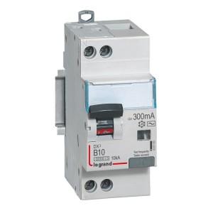 Disjoncteur différentiel DX³ 6000 U+N - 230V~ - 10A - 300mA - courbe B LEGRAND