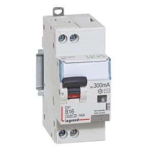 Disjoncteur différentiel DX³ 6000 U+N - 230V~ - 16A - 300mA - courbe B LEGRAND