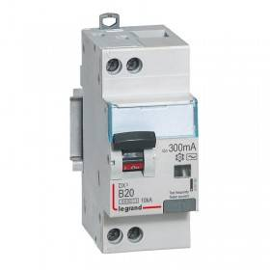 Disjoncteur différentiel DX³ 6000 U+N - 230V~ - 20A - 300mA - courbe B LEGRAND