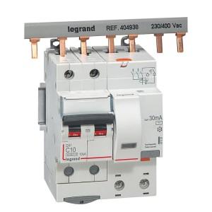 Disjoncteur différentiel DX³ 6000 2P - 230 à 400V~ - 10A - 30mA - courbe C LEGRAND