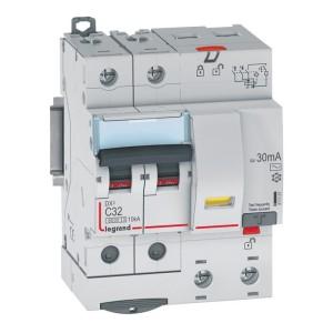 Disjoncteur différentiel DX³ 6000 2P - 230 à 400V~ - 32A - 30mA - courbe C LEGRAND