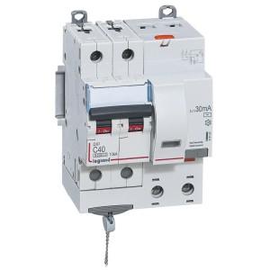 Disjoncteur différentiel DX³ 6000 2P - 230 à 400V~ - 40A - 30mA - courbe C LEGRAND
