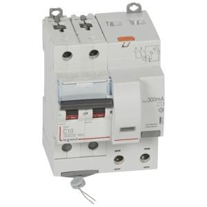 Disjoncteur différentiel DX³ 6000 2P - 230 à 400V~ - 10A - 300mA - courbe C LEGRAND