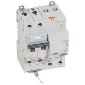 Disjoncteur différentiel DX³ 6000 2P - 230 à 400V~ - 16A - 300mA - courbe C LEGRAND