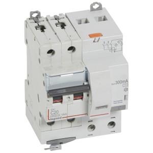Disjoncteur différentiel DX³ 6000 2P - 230 à 400V~ - 20A - 300mA - courbe C LEGRAND