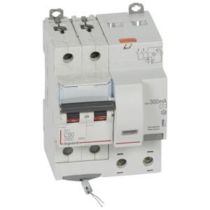 Disjoncteur différentiel DX³ 6000 2P - 230 à 400V~ - 50A - 300mA - courbe C LEGRAND