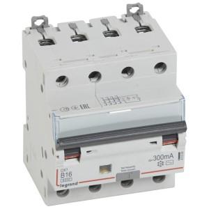Disjoncteur différentiel DX³ 6000 4P - 400V~ - 16A - 300mA - courbe B LEGRAND