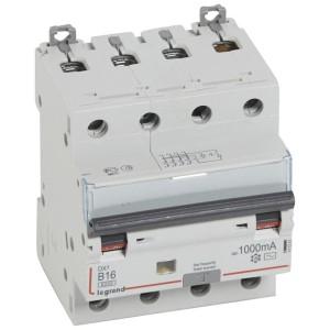 Disjoncteur différentiel DX³ 6000 4P - 400V~ - 16A - 1000mA - courbe B LEGRAND