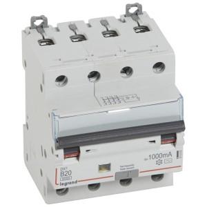 Disjoncteur différentiel DX³ 6000 4P - 400V~ - 20A - 1000mA - courbe B LEGRAND