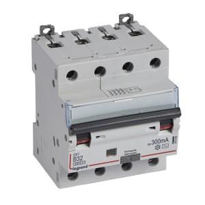 Disjoncteur différentiel DX³ 6000 4P - 400V~ - 32A - 300mA - courbe B LEGRAND
