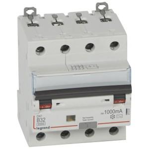 Disjoncteur différentiel DX³ 6000 4P - 400V~ - 32A - 1000mA - courbe B LEGRAND