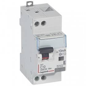 Disjoncteur différentiel DX³ 6000 U+N - 230V~ - 10A - Type AC- 10mA LEGRAND