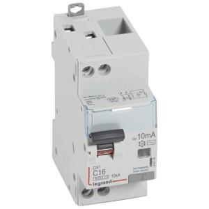 Disjoncteur différentiel DX³ 6000 U+N - 230V~ - 16A - Type AC- 10mA LEGRAND