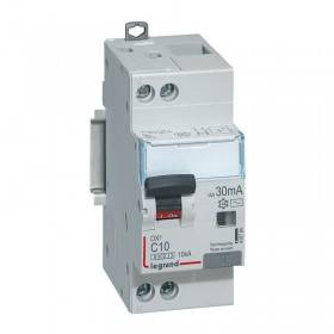 Disjoncteur différentiel DX³ 6000 U+N - 230V~ - 10A - Type AC- 30mA LEGRAND