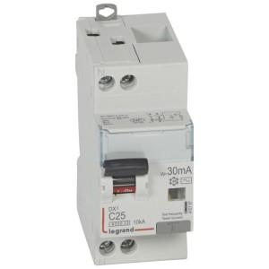 Disjoncteur différentiel DX³ 6000 U+N - 230V~ - 25A - Type AC- 30mA LEGRAND