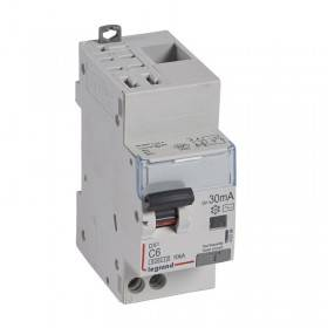 Disjoncteur différentiel DX³ 6000 U+N - 230V~ - 6A - Type AC- 30mA LEGRAND