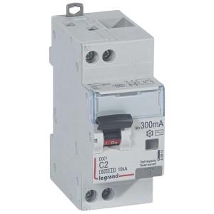 Disjoncteur différentiel DX³ 6000 U+N - 230V~ - 2A - Type AC - 300mA LEGRAND