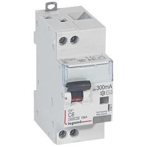 Disjoncteur différentiel DX³ 6000 U+N - 230V~ - 6A - Type AC - 300mA LEGRAND