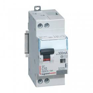 Disjoncteur différentiel DX³ 6000 U+N - 230V~ - 10A - Type AC - 300mA LEGRAND