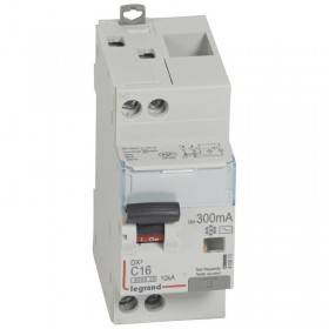 Disjoncteur différentiel DX³ 6000 U+N - 230V~ - 16A - Type AC - 300mA LEGRAND