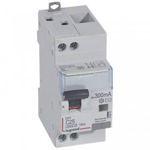Disjoncteur différentiel DX³ 6000 U+N - 230V~ - 25A - Type AC - 300mA LEGRAND