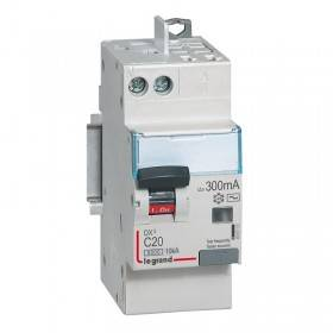 Disjoncteur différentiel DX³ 6000 U+N - 230V~ - 20A - Type AC - 300mA LEGRAND