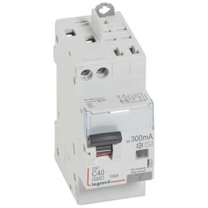 Disjoncteur différentiel DX³ 6000 U+N - 230V~ - 40A - Type AC - 300mA LEGRAND