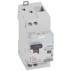 Disjoncteur différentiel DX³ 6000 U+N - 230V~ - 20A - Type F - 30mA LEGRAND