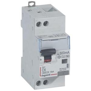 Disjoncteur différentiel DX³ 6000 U+N - 230V~ - 6A - Type F - 300mA LEGRAND