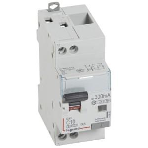 Disjoncteur différentiel DX³ 6000 U+N - 230V~ - 10A - Type F - 300mA LEGRAND