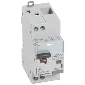 Disjoncteur différentiel DX³ 6000 U+N - 230V~ - 16A - Type F - 300mA LEGRAND