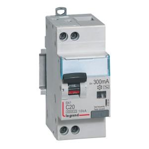 Disjoncteur différentiel DX³ 6000 U+N - 230V~ - 20A - Type F - 300mA LEGRAND