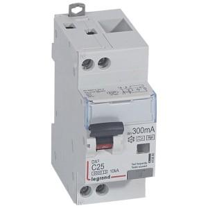Disjoncteur différentiel DX³ 6000 U+N - 230V~ - 25A - Type F - 300mA LEGRAND