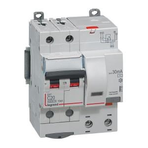 Disjoncteur différentiel DX³ 6000 2P - 230V~ - 20A - Type AC - 30mA LEGRAND