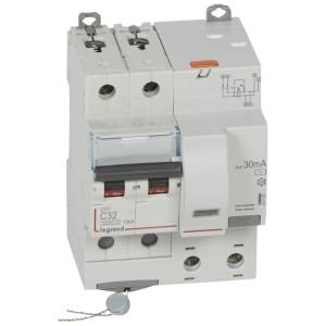 Disjoncteur différentiel DX³ 6000 2P - 230V~ - 32A - Type AC - 30mA LEGRAND