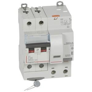 Disjoncteur différentiel DX³ 6000 2P - 230V~ - 20A - Type AC - 300mA LEGRAND