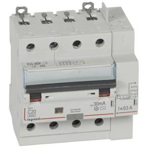 Disjoncteur différentiel DX³ 6000 - 4P - 400V~ - 20A - Type AC - 30mA LEGRAND