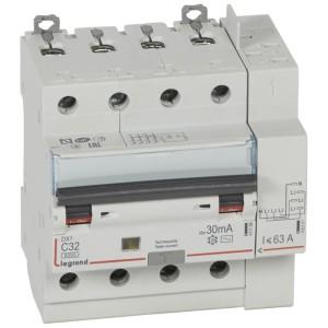 Disjoncteur différentiel DX³ 6000 - 4P - 400V~ - 32A - Type AC - 30mA LEGRAND