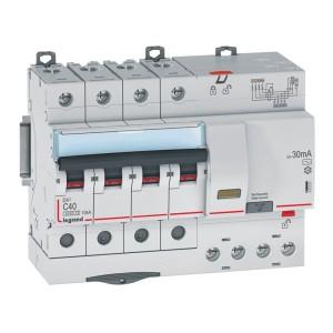 Disjoncteur différentiel DX³ 6000 - 4P - 400V~ - 40A - Type AC - 30mA LEGRAND
