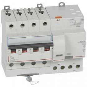Disjoncteur différentiel DX³ 6000 - 4P - 400V~ - 63A - Type AC - 30mA LEGRAND