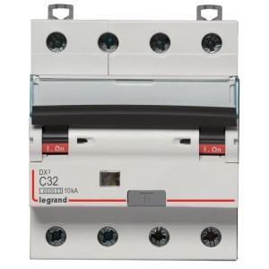 Disjoncteur différentiel DX³ 6000 - 4P - 400V~ - 32A - Type AC - 300mA LEGRAND
